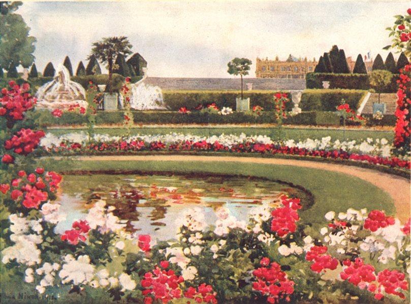 Associate Product YVELINES. France. The Parterre de Latone, Versailles 1916 old antique print