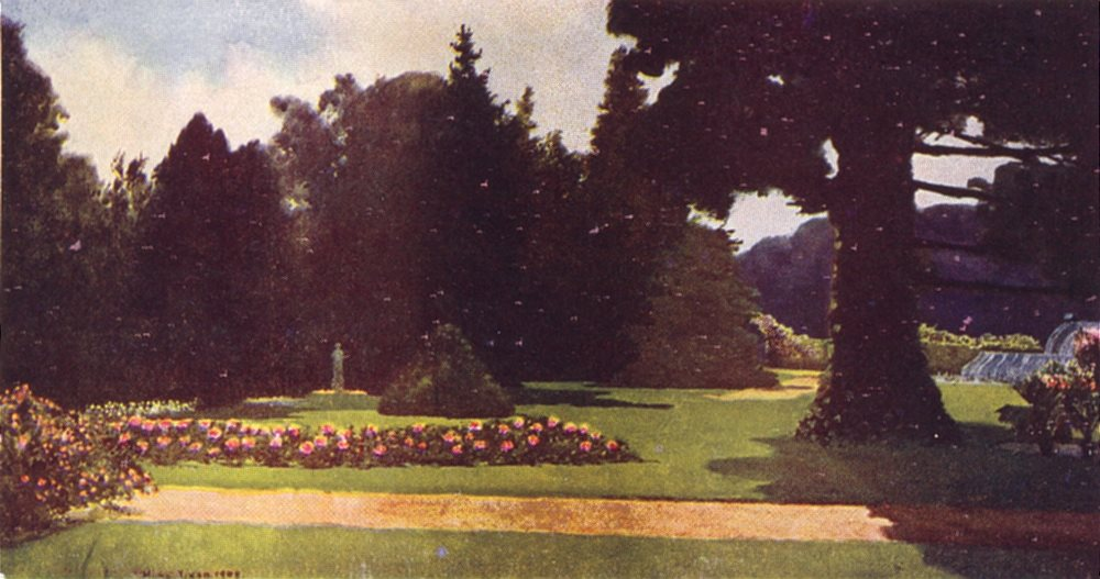 Associate Product HOLLAND. The Palace Gardens, Het Loo 1916 old antique vintage print picture