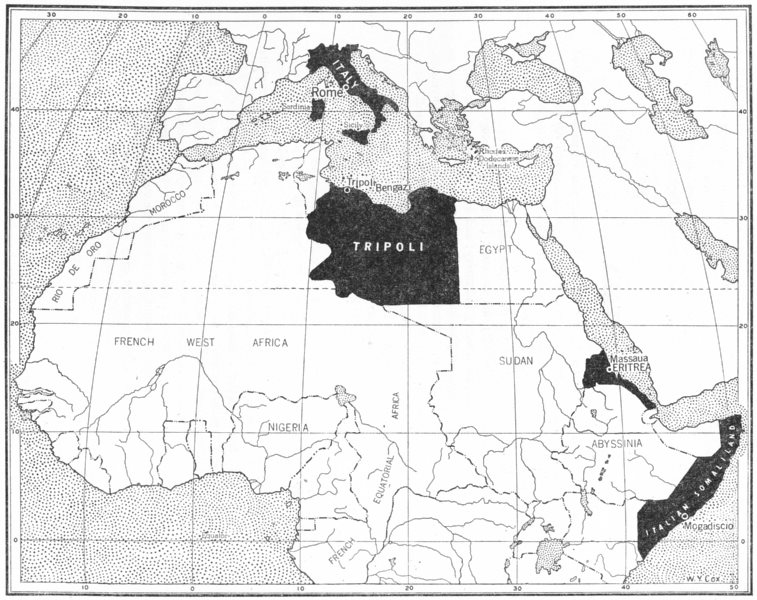 Associate Product WORLD. The Italian Empire in 1914 1948 old vintage map plan chart