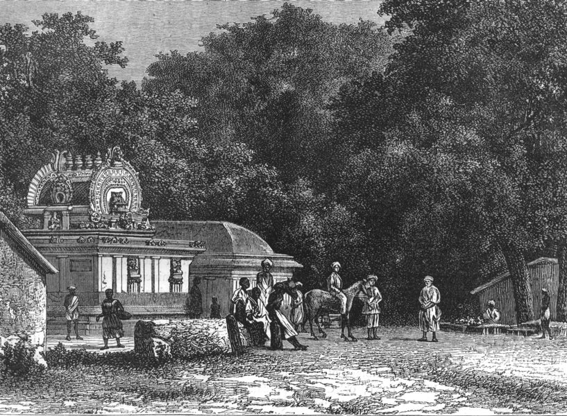 Associate Product INDIA. View near Puducherry c1880 old antique vintage print picture