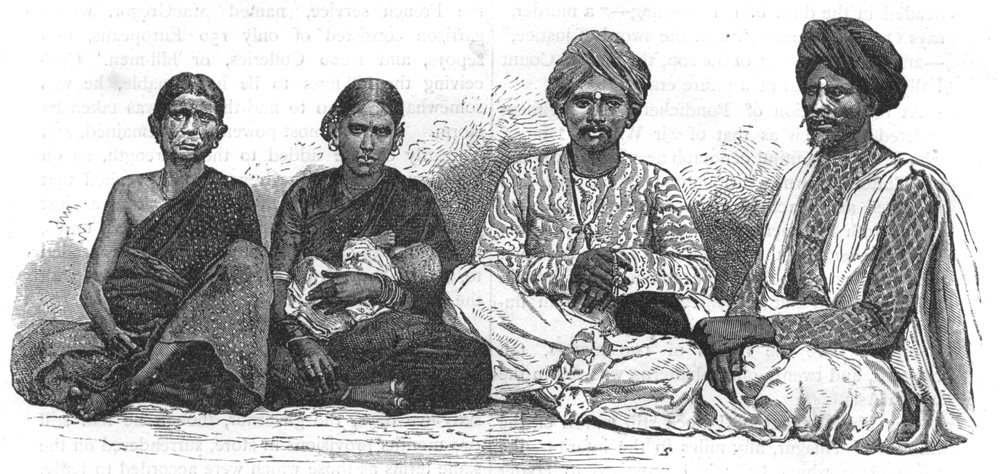 Associate Product INDIA. Hindus of the Deccan c1880 old antique vintage print picture
