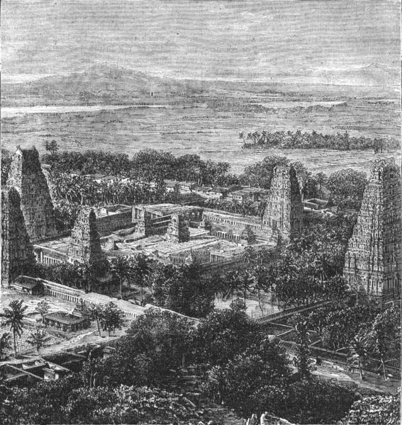 Associate Product CHENGALPATTU. Bird's-Eye Pagoda of Eagle's nest(Chennai Presidency) c1880