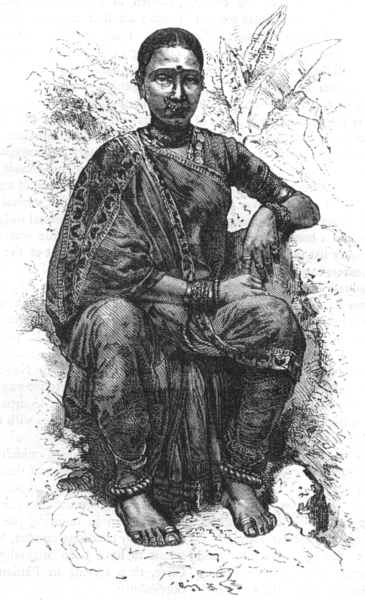 Associate Product INDIA. Hindu Girl c1880 old antique vintage print picture