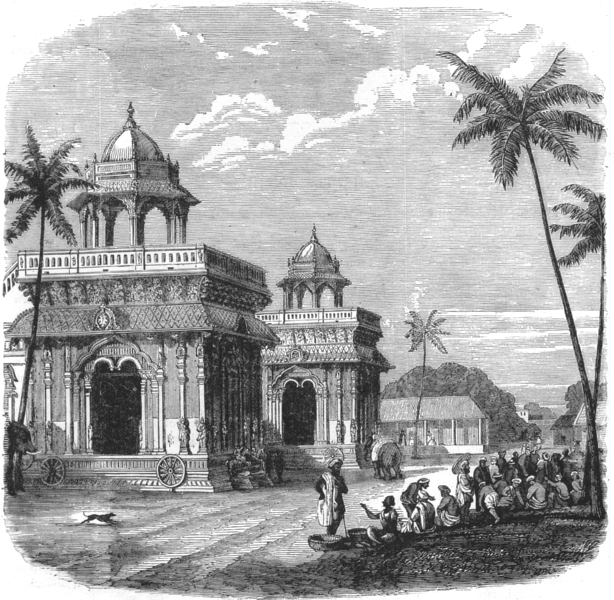 Associate Product INDIA. The Palace of Thanjavur c1880 old antique vintage print picture
