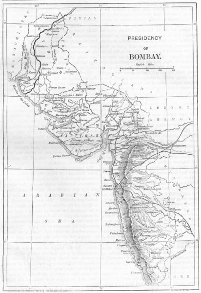 Associate Product INDIA. Map of The Presidency of Mumbai c1880 old antique plan chart