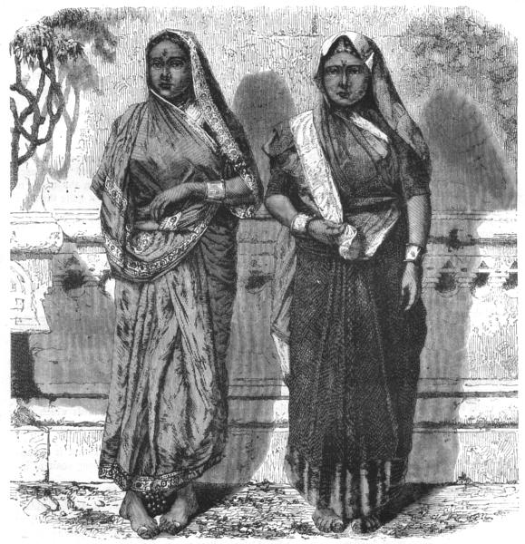 Associate Product INDIA. Low caste Hindu women of Mumbai c1880 old antique vintage print picture