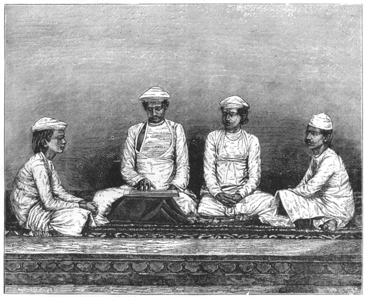 Associate Product INDIA. Group of Brahmins c1880 old antique vintage print picture