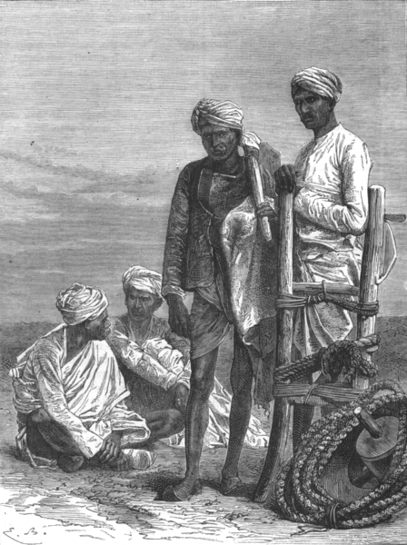 Associate Product INDIA. Peasants of the Doab c1880 old antique vintage print picture