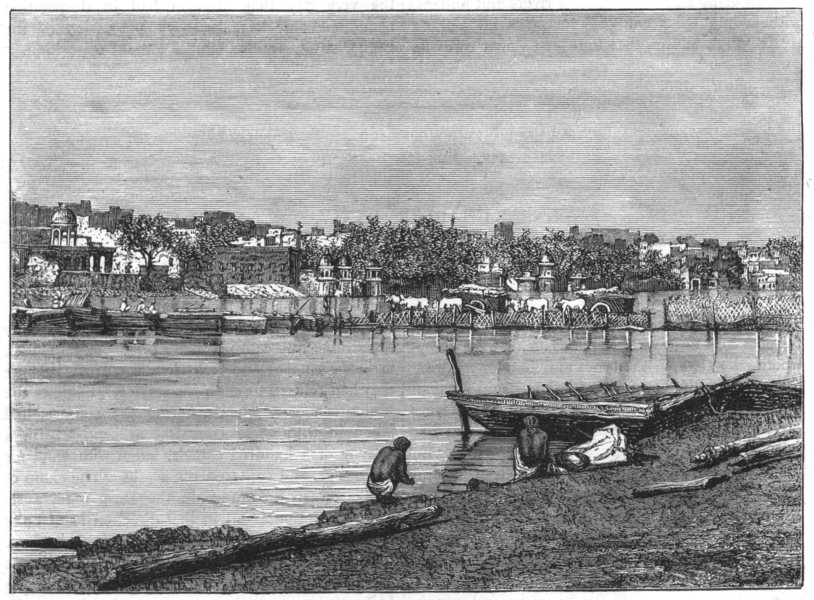 Associate Product INDIA. View of Mathura c1880 old antique vintage print picture
