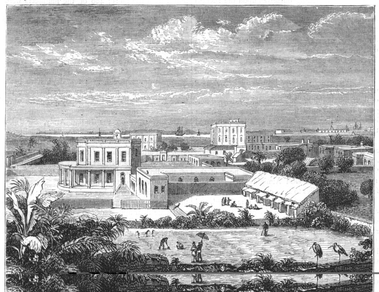 Associate Product INDIA. View in Calcutta(Kolkata) c1880 old antique vintage print picture