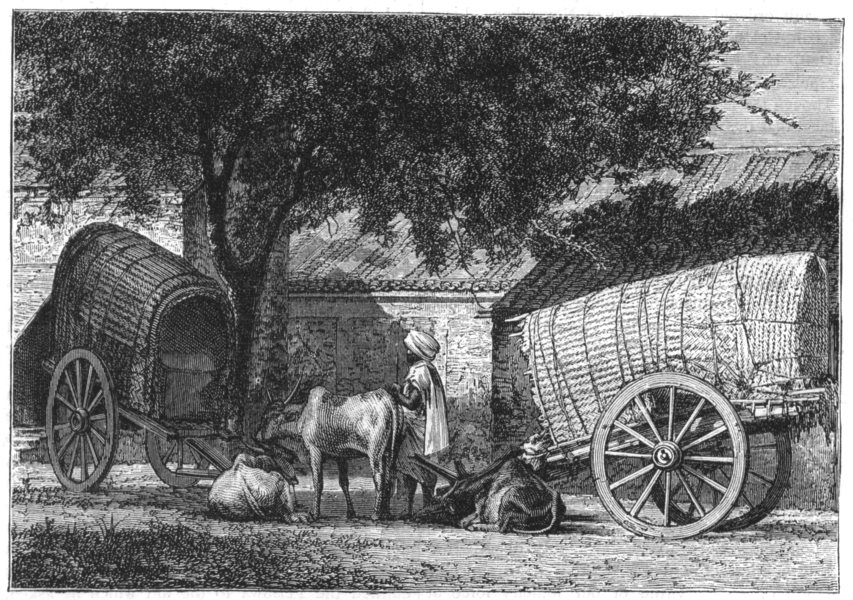 Associate Product INDIA. Indian Travelling Wagons c1880 old antique vintage print picture