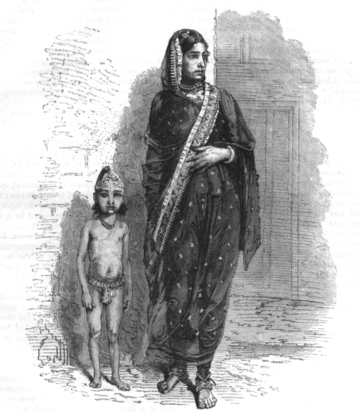 Associate Product INDIA. Mussulman woman of Bhopal c1880 old antique vintage print picture