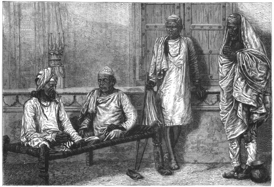 Associate Product INDIA. Religious Mendicants at Varanasi c1880 old antique print picture