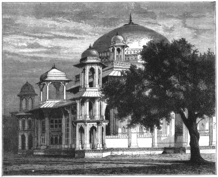 Associate Product INDIA. View of the Mausoleum of Mohammed Ghose, Gwalior c1880 old print