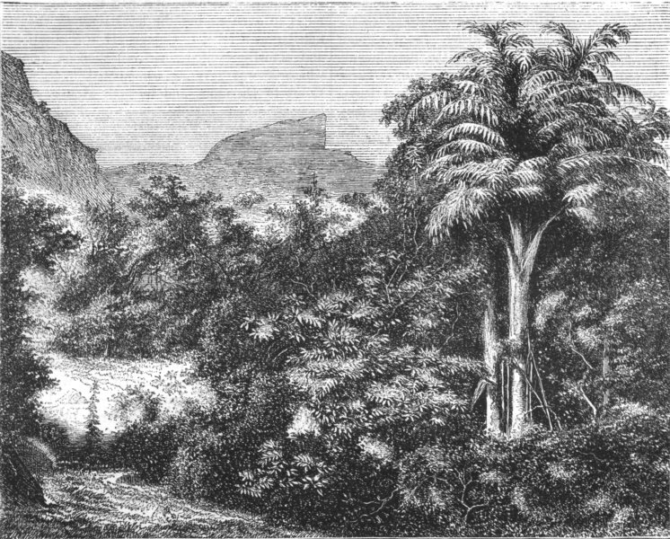 Associate Product INDIA. View of the Duke's Nose in the Ghats, near Khandallah c1880 old print