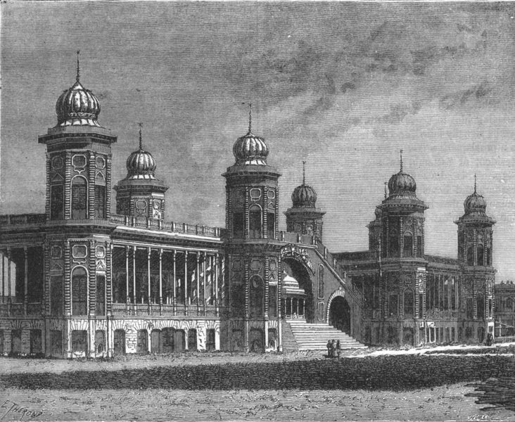 Associate Product INDIA. Pavilion of Lanka, Kaiserbagh, Lucknow c1880 old antique print picture