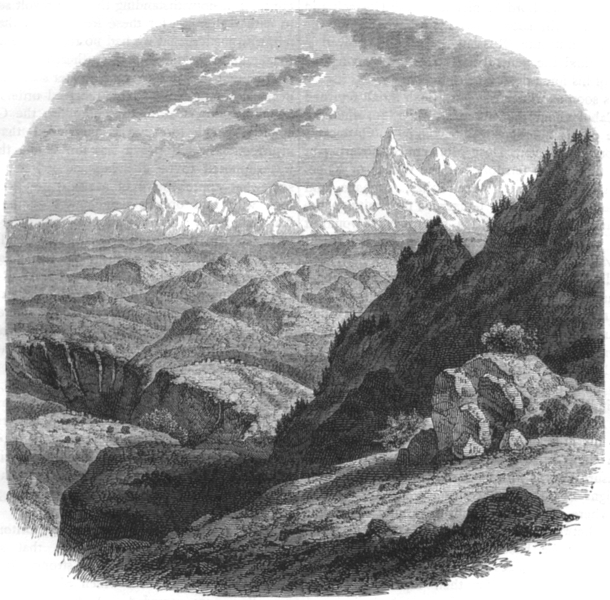 Associate Product ASIA. View of the Hindu Kush mountains c1880 old antique vintage print picture