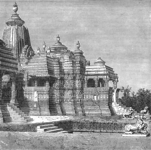 Associate Product INDIA. View of the Temple of Kali at Kijraha c1880 old antique print picture