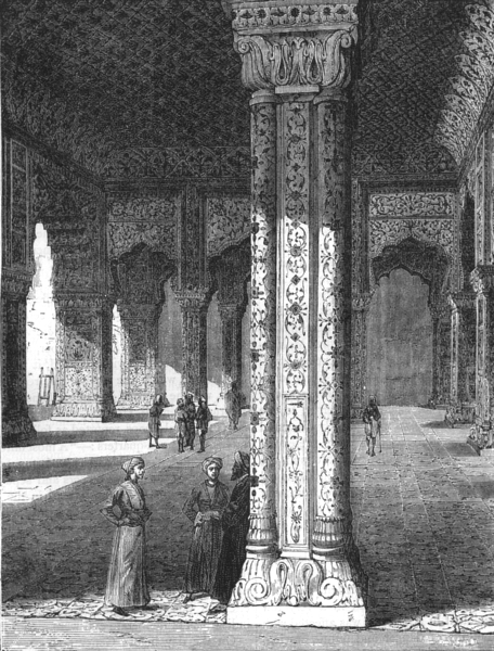 Associate Product INDIA. Great Hall of the Dewan Khas in the Palace of Delhi c1880 old print