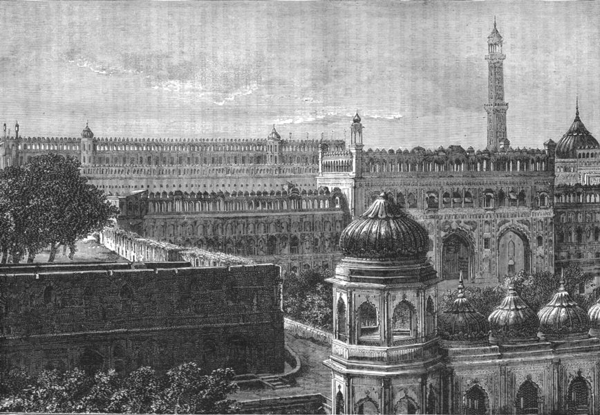 Associate Product INDIA. View of the Great Imambara, Lucknow c1880 old antique print picture