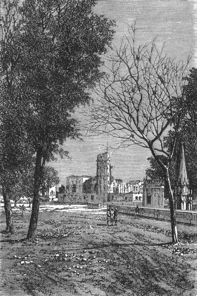 Associate Product INDIA. Ruins of the residency, Lucknow c1880 old antique vintage print picture
