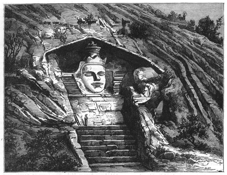 Associate Product INDIA. Idol of Mandar, near Bhagalpur c1880 old antique vintage print picture