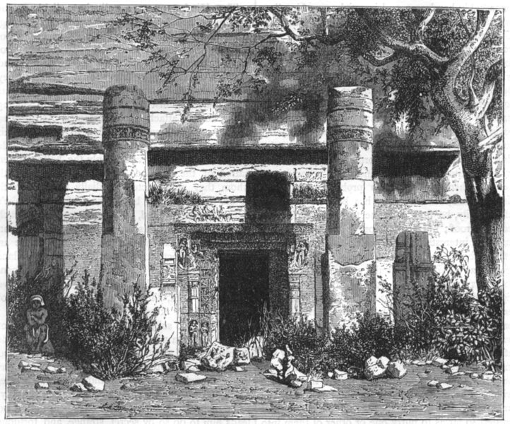Associate Product INDIA. View of the Subterranean temple of Mahadeva, Udaigiri c1880 old print