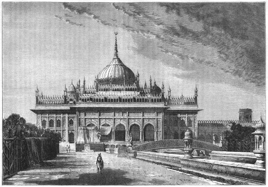 Associate Product INDIA. View in Lucknow. Hooseinabad Imambara c1880 old antique print picture