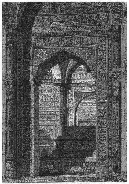 Associate Product INDIA. View of the tomb of Altamsh, Qutb, near Delhi c1880 old antique print