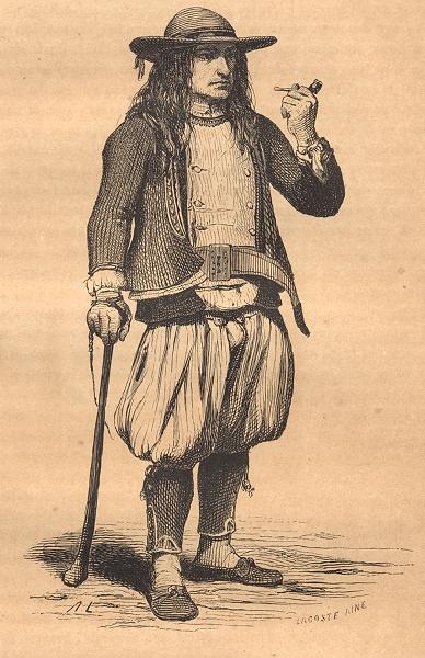 Associate Product FINISTÈRE. Rosporden 1844 old antique vintage print picture