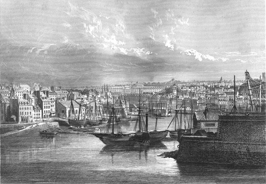 Associate Product FINISTÈRE. Brest 1844 old antique vintage print picture