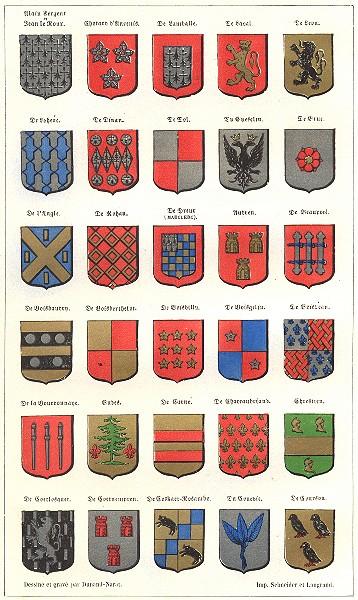 Associate Product Armoiries Bretonne. Dinan Rohan Audren Bruc Leon Laval Budes Chrestien Dol 1844