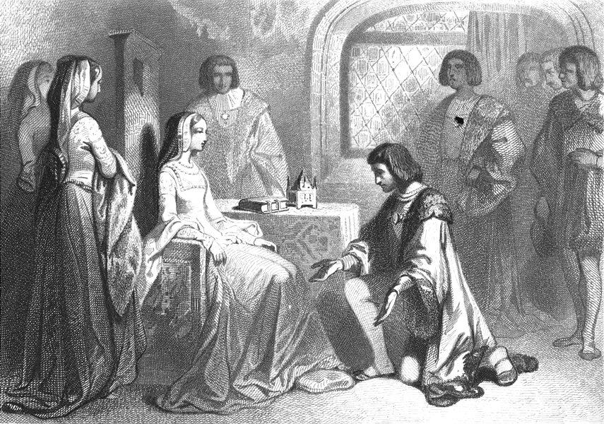 Associate Product FRANCE. Anne de Bretagne et Louis D'Orleans Rennes 1491 1844 old antique print