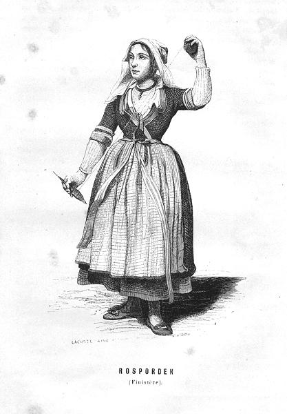 Associate Product FINISTÈRE. Rosporden(Finistere) 1844 old antique vintage print picture