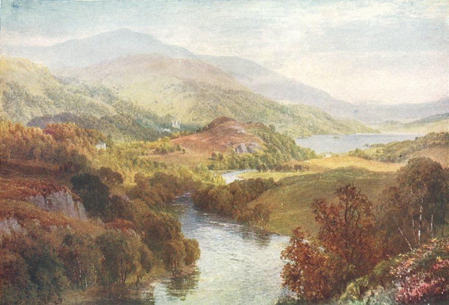 Associate Product SCOTLAND. Trossachs. river Teith, Lochs Achray Vennachar, Perthshire 1922