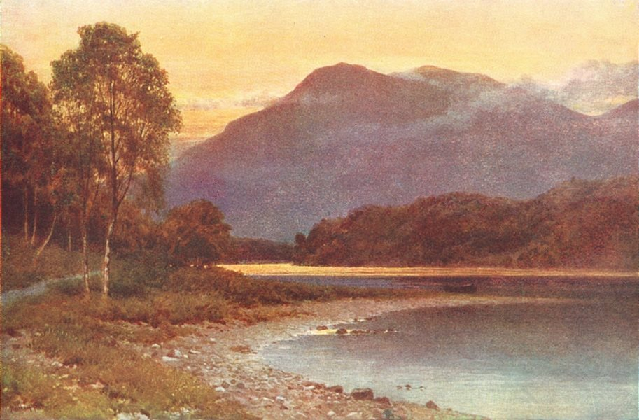 Associate Product SCOTLAND. Fife. silver strand, Loch Katrine, Perthshire 1922 old vintage print
