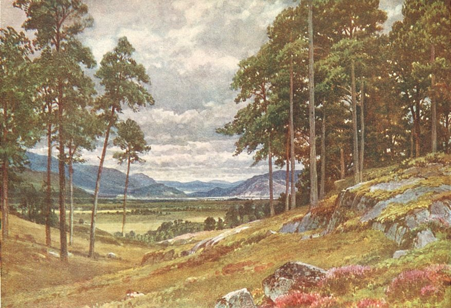 Associate Product SCOTLAND. A peep of the Grampians, Inverness-Shire 1922 old vintage print