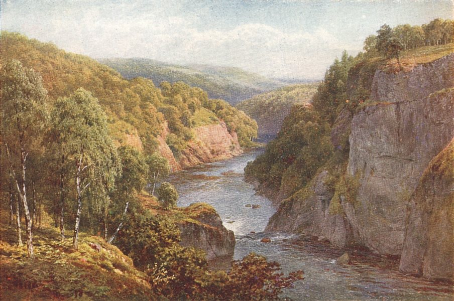 Associate Product SCOTLAND. The river glass near Beauly, Inverness-Shire 1922 old vintage print