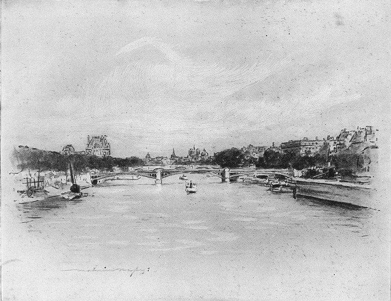 Associate Product FRANCE. The Seine at Paris 1920 old vintage print picture