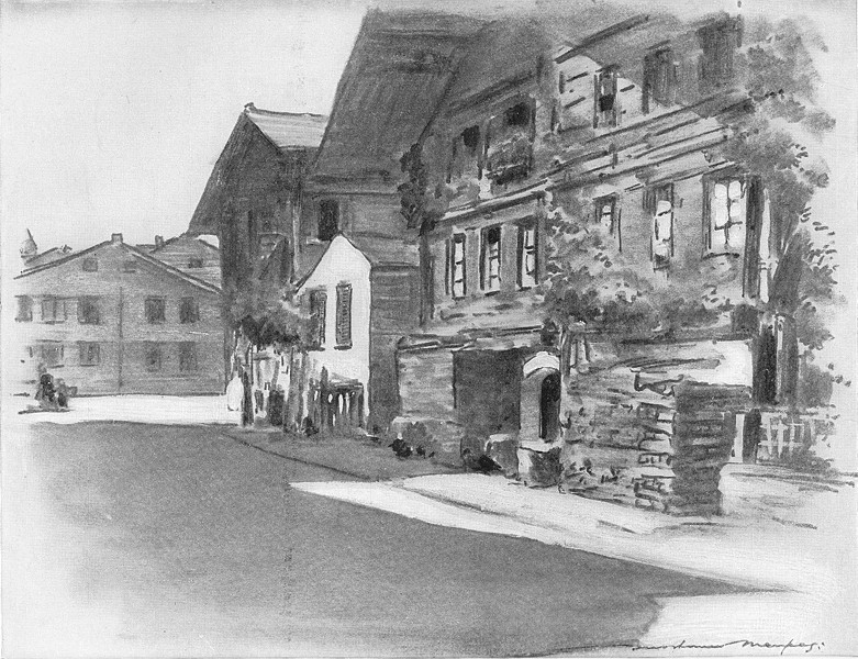 Associate Product SWITZERLAND. Interlaken 1920 old vintage print picture