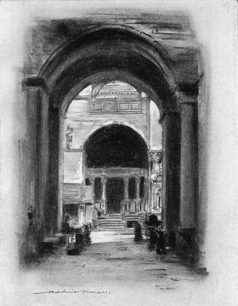 Associate Product VENICE. Italy. Inside St Mark's Venice 1920 old vintage print picture