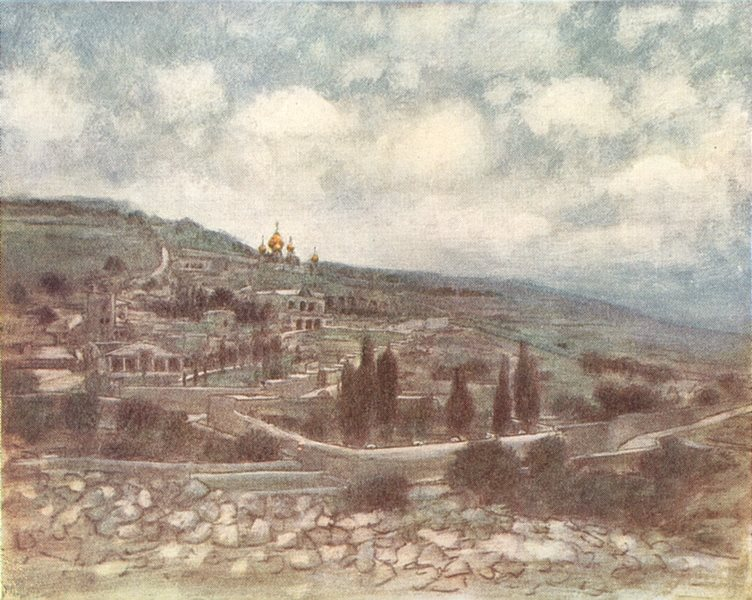 Associate Product ISRAEL. Palestine. Mount of Olives, Holy Land 1920 old vintage print picture