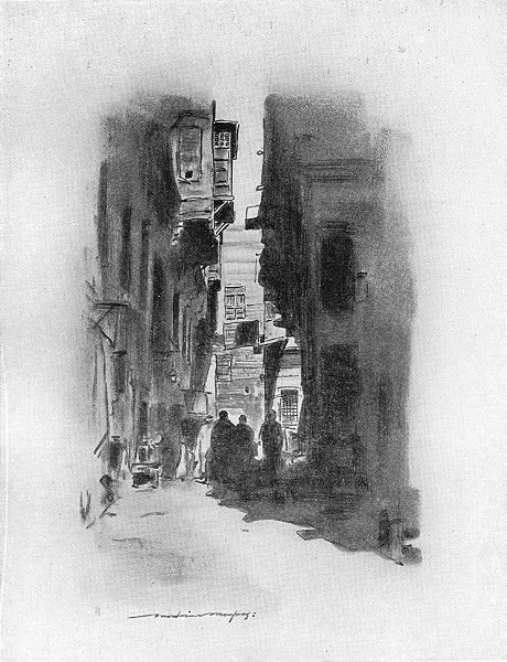 Associate Product EGYPT. A Cairo Street 1920 old vintage print picture