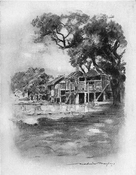BURMA. An Up-Country Village 1920 old vintage print picture