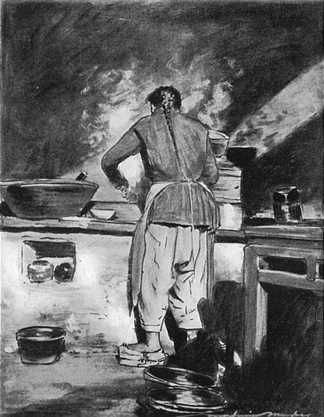 CHINA. Chinese Cook 1920 old vintage print picture