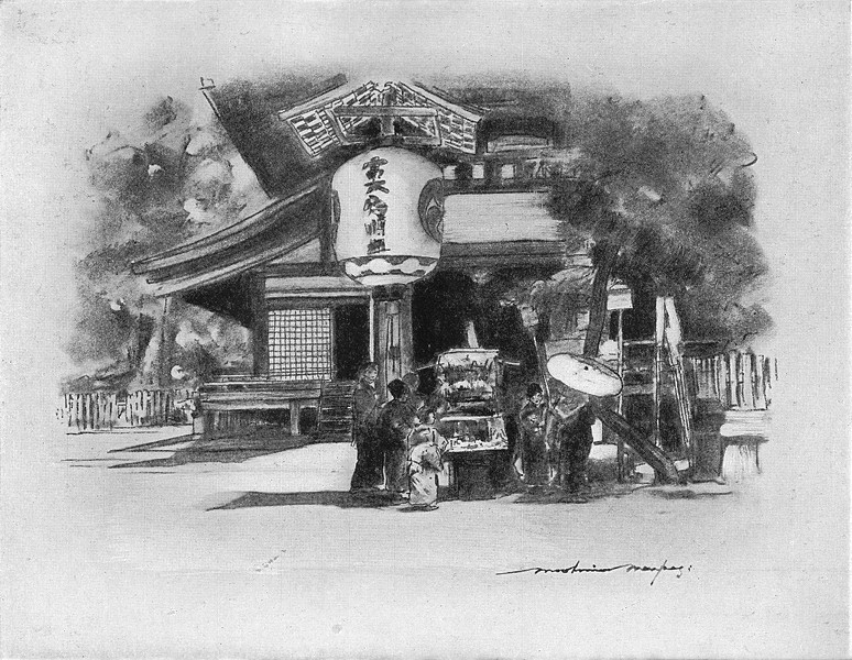 Associate Product JAPAN. At Kyoto 1920 old vintage print picture