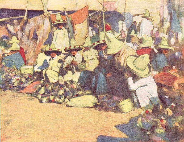 Associate Product MEXICO. Puebla, Mexico 1920 old vintage print picture