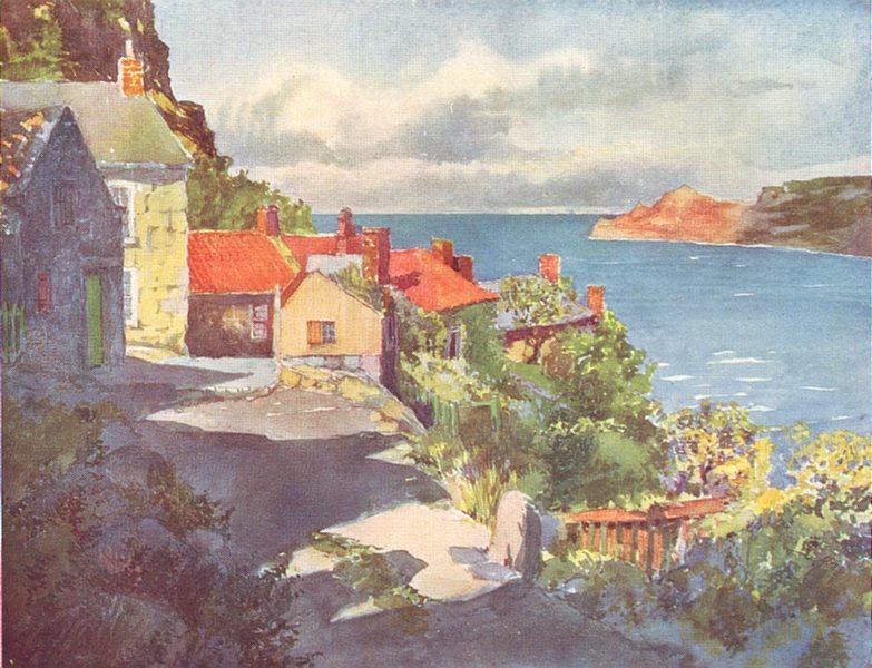 Associate Product YORKS. The Coast. A Sunny afternoon at Runswick 1908 old antique print picture