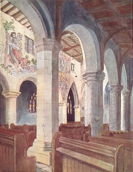 Associate Product YORKS. In Pickering Church 1908 old antique vintage print picture