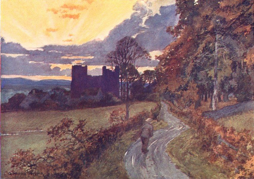 Associate Product YORKS. Bolton Castle, Wensleydale 1908 old antique vintage print picture
